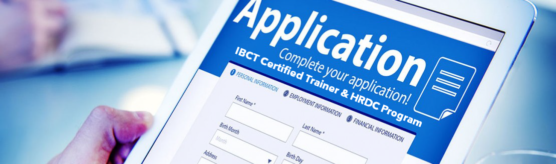 IBCT Training of Trainer CT Application Form